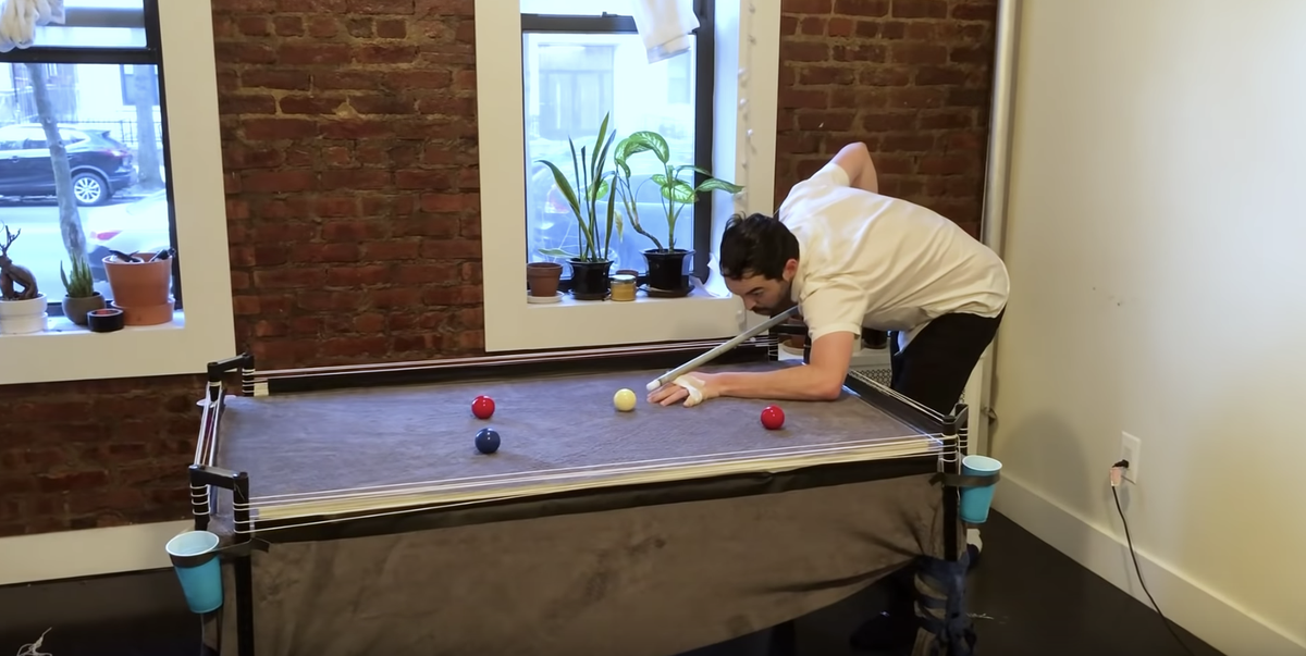This Guy Diyed His Own Pool Table