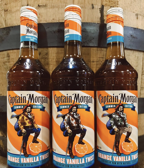 Captain Morgan Released Orange Vanilla