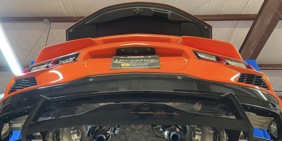 Listen to the Hennessey Twin-Turbo Mid-Engine 2020 Chevy Corvette