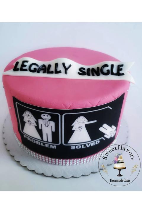 Legally Single Cake