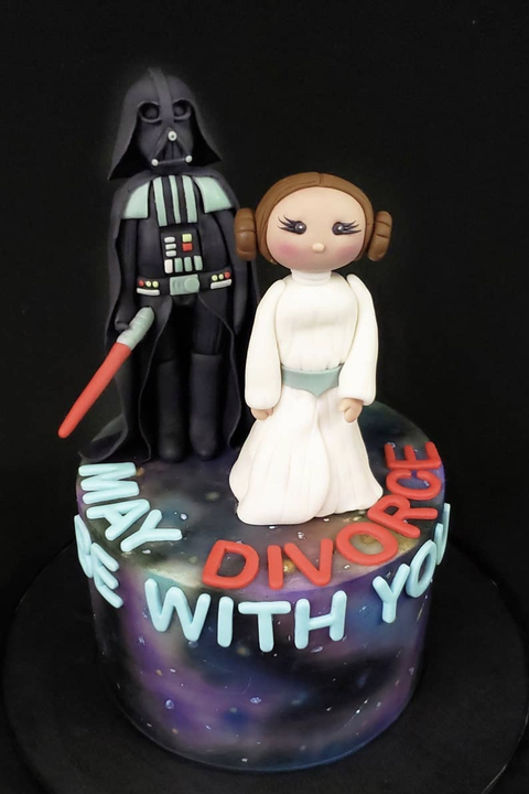 May Divorce Be With You Cake