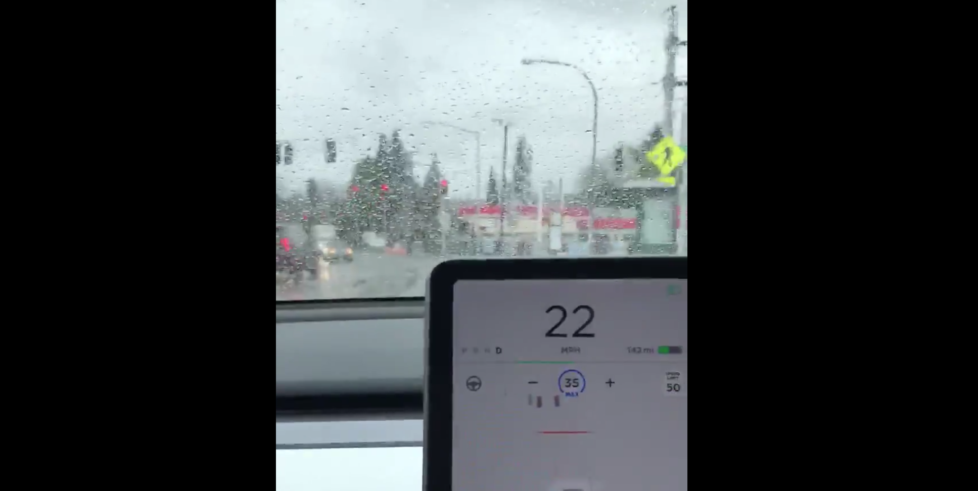 Video Shows Tesla Autopilot Stopping a Model 3 at a Stoplight