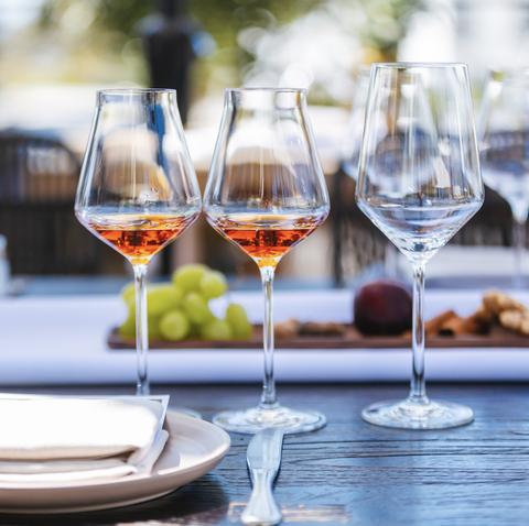 Stemware, Wine glass, Champagne stemware, Glass, Drinkware, Restaurant, Tableware, Water, Drink, Rehearsal dinner,