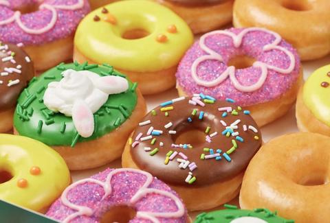 Food, Doughnut, Cuisine, Sweetness, Glaze, Food coloring, Baked goods, Dish, Ciambella, Pastry,