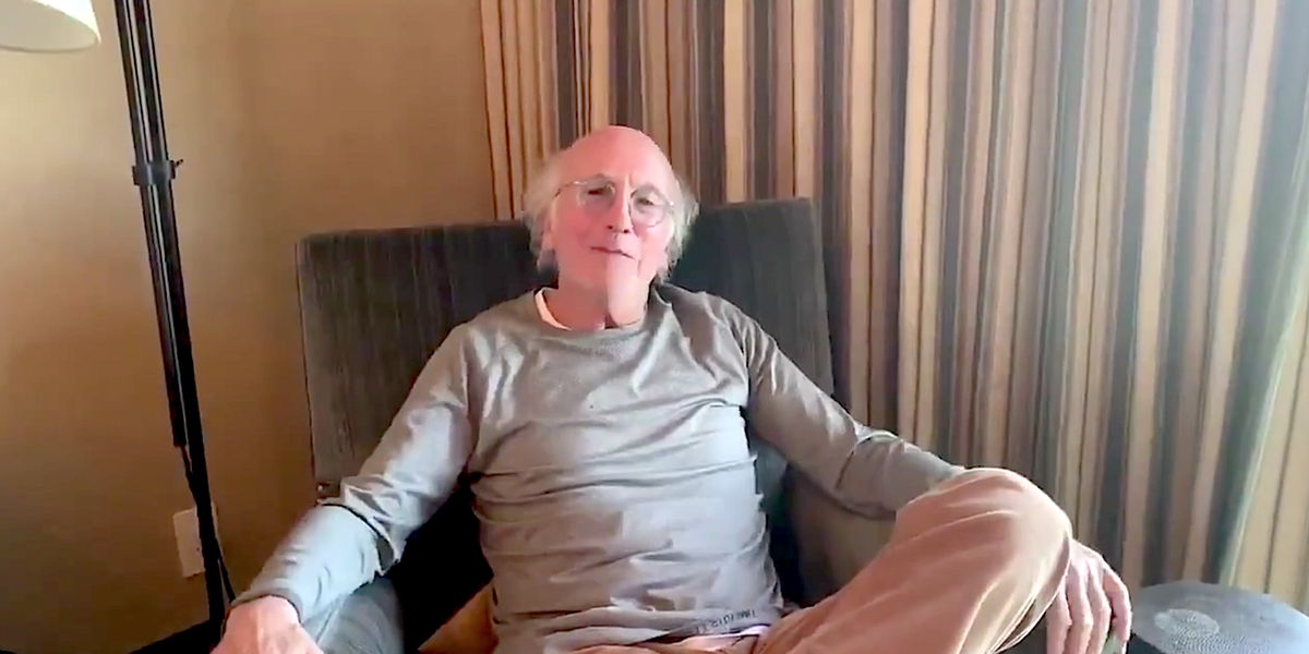 Larry David Is the Perfect Spokesperson For Social Distancing