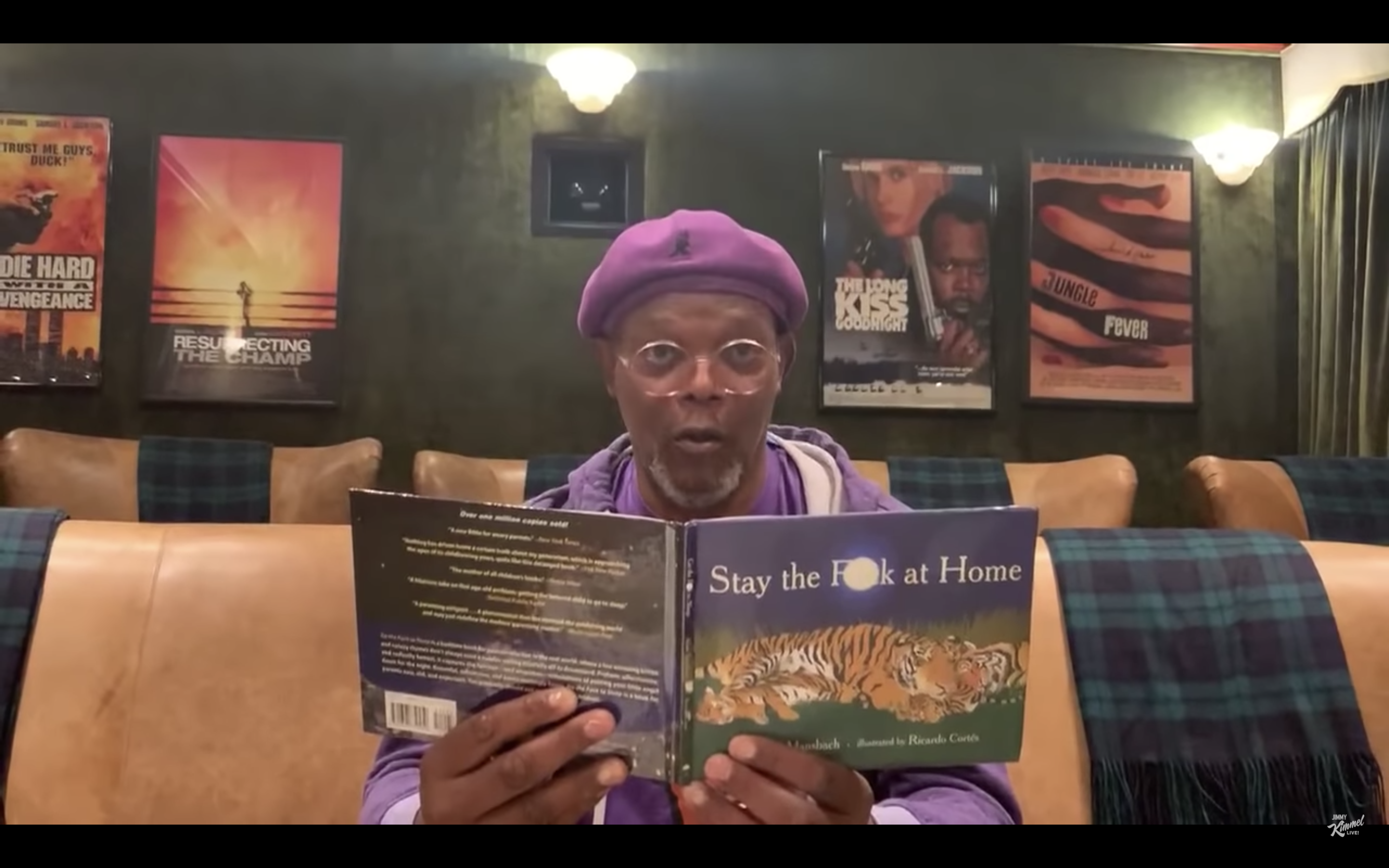 Samuel L. Jackson Reading Stay the F**k at Home Is a Gentle Reminder to Stay the F**k At Home