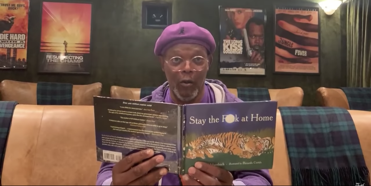 Samuel L Jackson Stay the Fuck at Home Video - Jackson Reads Stay ...