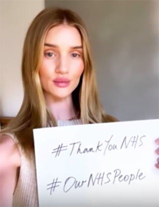 celebrities clapping for NHS