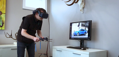 Ford Executive using VR to check vehicle development
