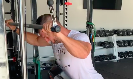 Tim Tebow Just Shared a Look at His Intense Arm Day Workout While in Isolation