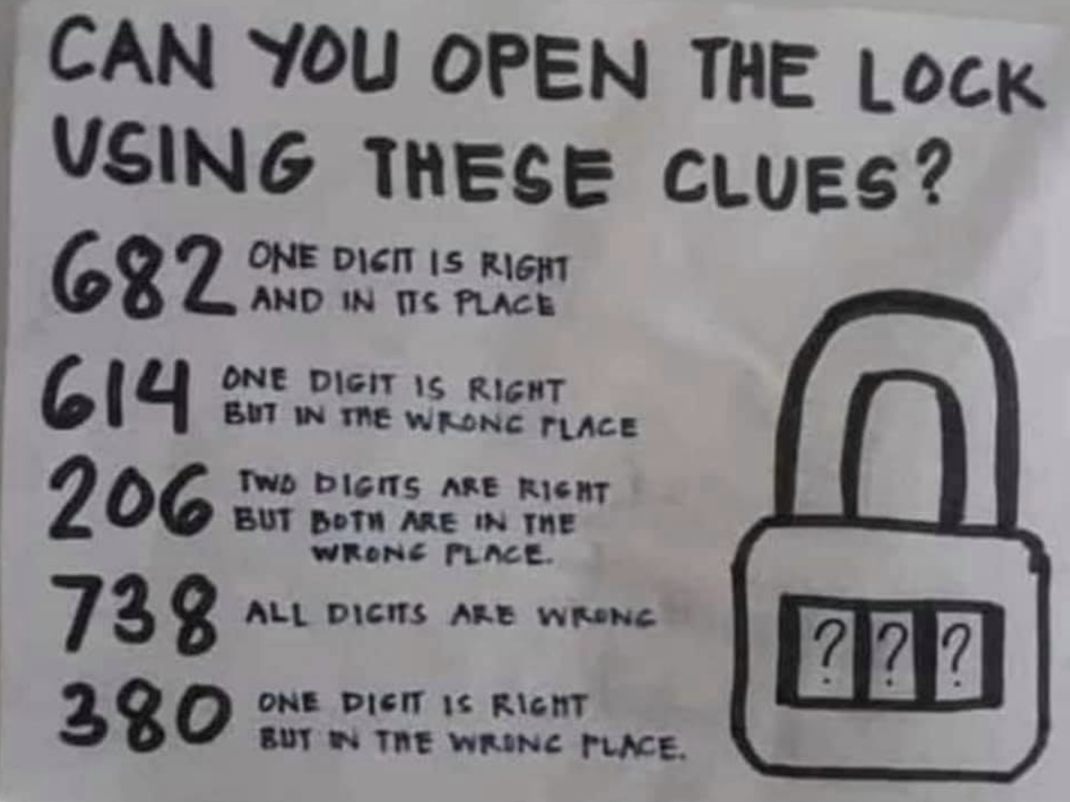 This 'Open the Lock' Logic Puzzle Is Stumping the Internet. Can You Solve It?