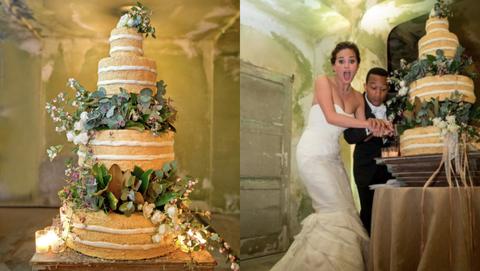 Gown, Wedding dress, Dress, Bride, Photograph, Wedding cake, Wedding ceremony supply, Bridal clothing, Marriage, Yellow,