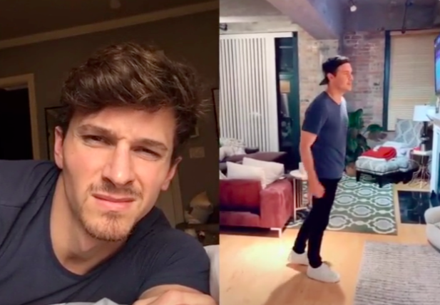 Connor Saeli Filmed His Horrified Reaction to Peter Weber's TikTok Dancing and It's Priceless