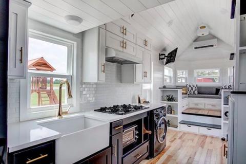 Countertop, Room, Property, Kitchen, Furniture, Cabinetry, Interior design, Building, Floor, Ceiling,