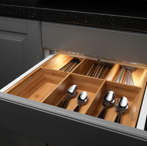 Drawer, Furniture, Cutlery, Wood, Kitchen, Room, Tableware, Cabinetry, Wood stain,