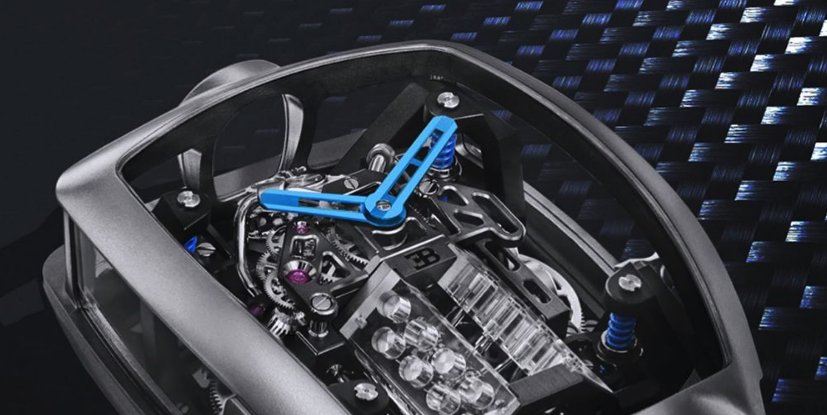 Bugatti Chiron Inspired a $280,000 Watch with a (Tiny) W-16 In It