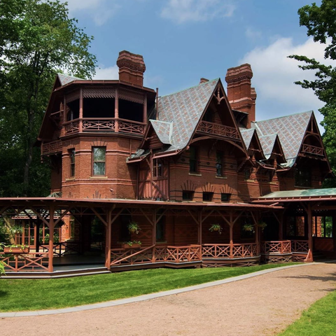 Exterior Mark Twain's House in Hartford, Connecticut