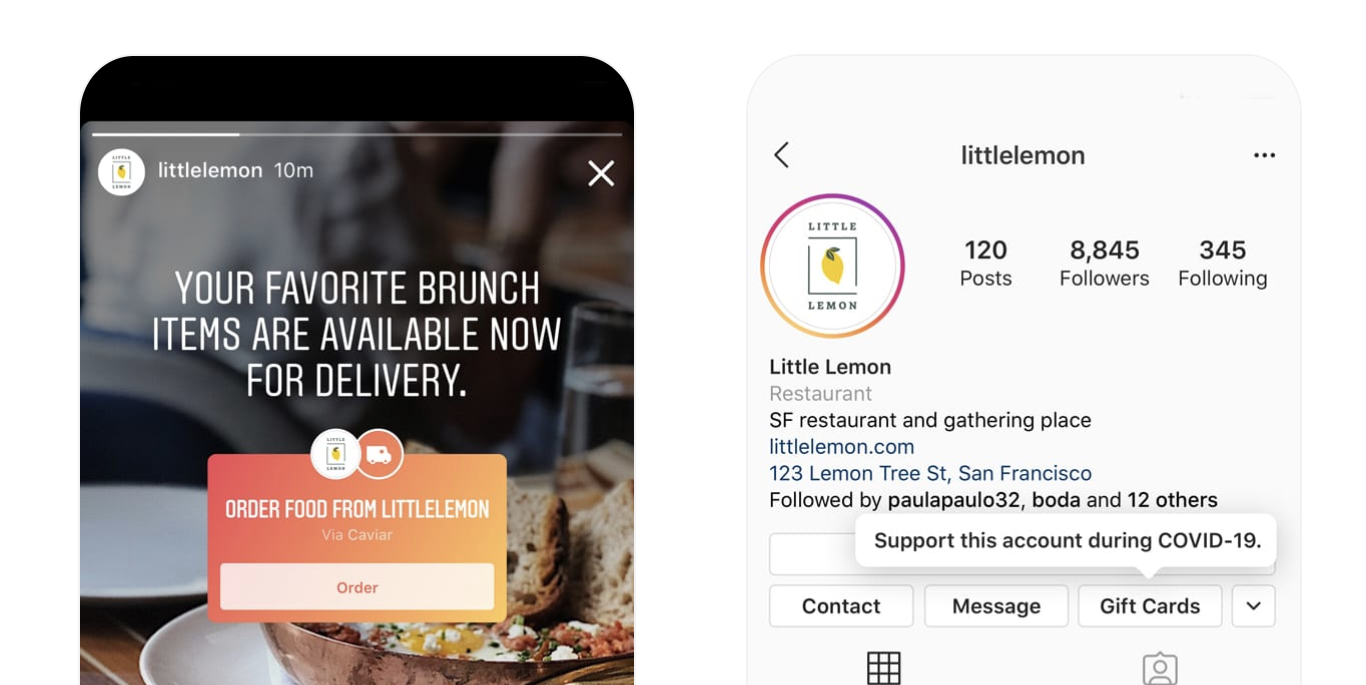 Instagram Is Adding Buttons That Let You Order Food