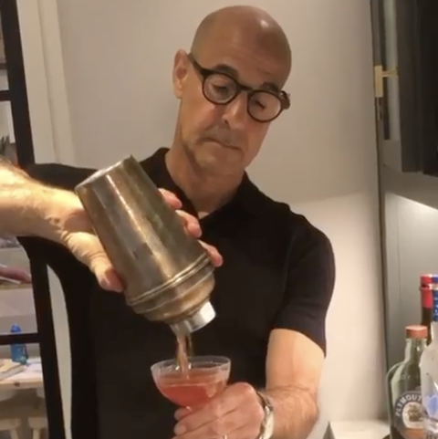 stanley tucci makes a negroni