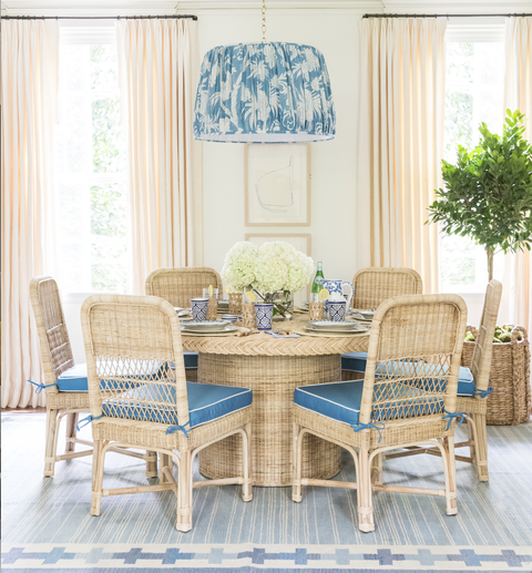 wicker dining set by sarah bartholomew for mainly baskets home