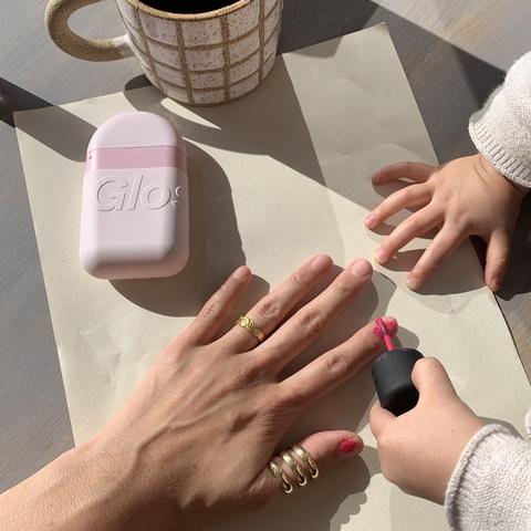 christinesunkimglossier nail polish and hand cream