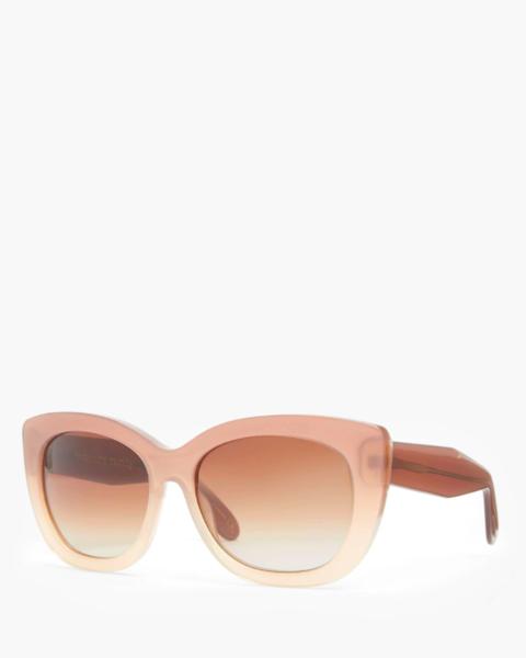 still life shot of john lewis cat eye pink ombre sunglasses