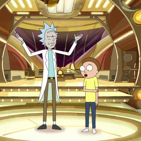 rick and morty story train