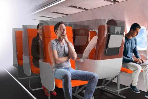 airplane seating model post pandemic