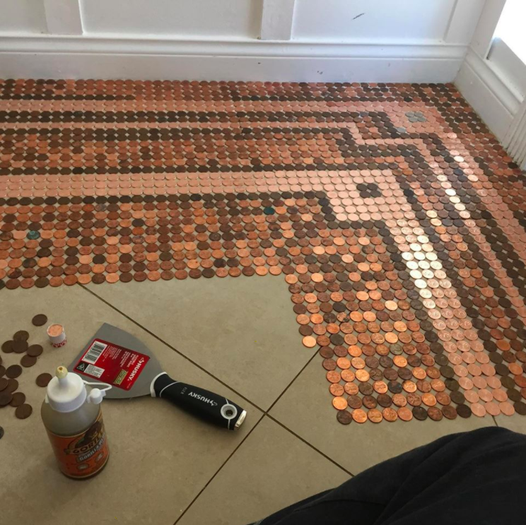 How To Design Your Own Penny Floor