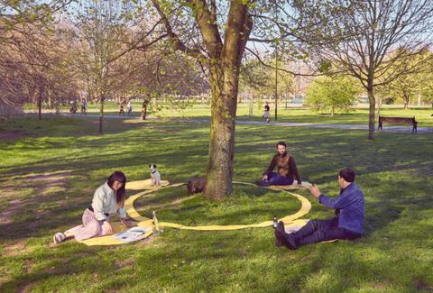 social distancing picnic blanket