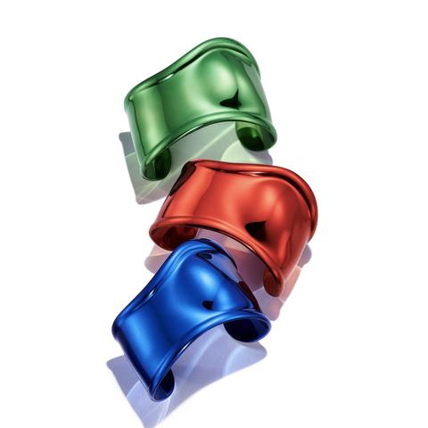 colorful bone cuffs by elsa peretti for tiffany  co
