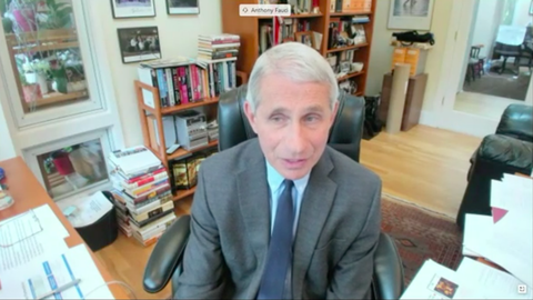 dr anthony fauci home office