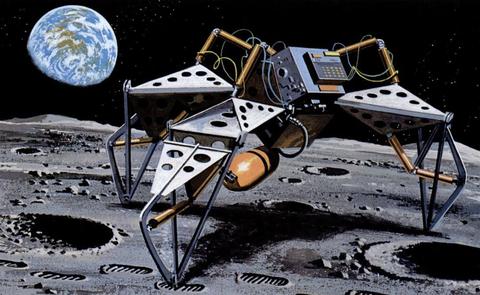 illustration d'un robot lunaire