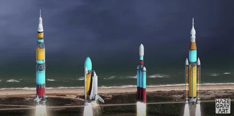 hazegrayart's youtube video shows transparent rocket launches