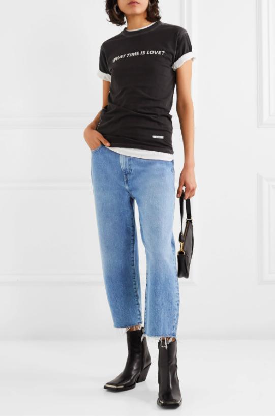 "PAIGE Woman BLUE BLEACHED Ripped Boyfriend PORTER Jeans UK 28/"" £275"