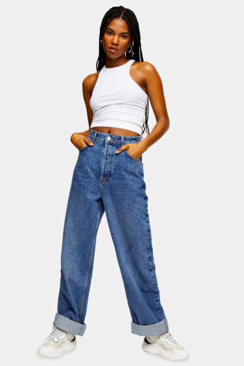considered topshop one oversized mom tapered jeans price £29