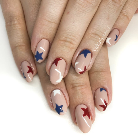 star spangled nails