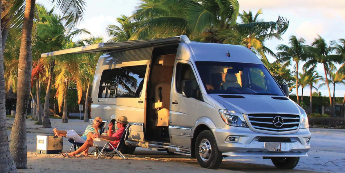 Airstream's Tommy Bahama Coach Makes Mercedes Sprinter into a Beach Machine