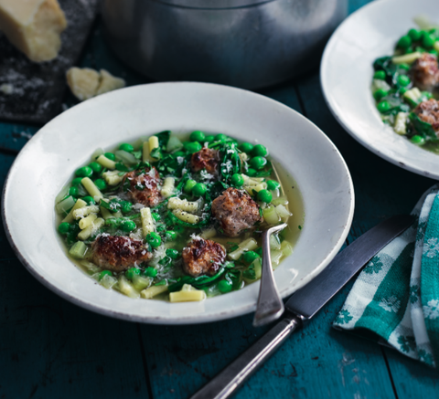 green minestrone sausage soup