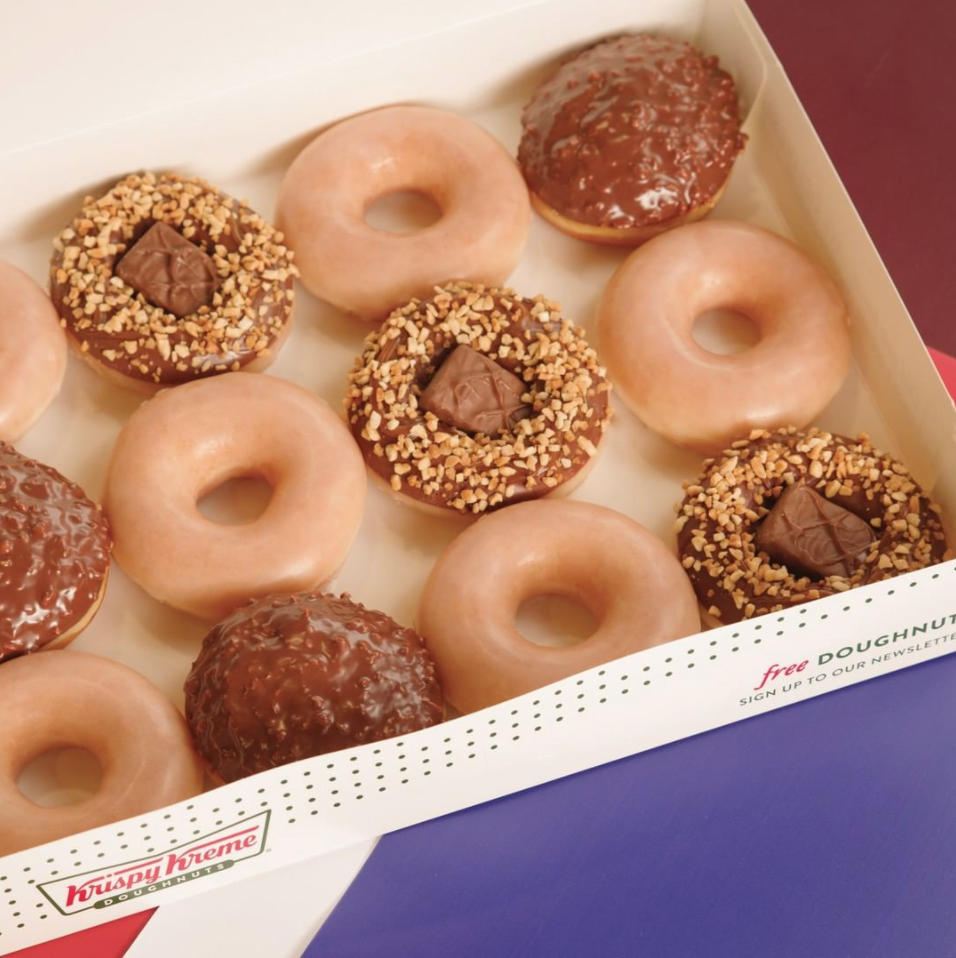 Krispy Kreme Has Snickers Donuts With Roasted Peanuts and Nougat Pieces, but You Can Only Get Them Down Under