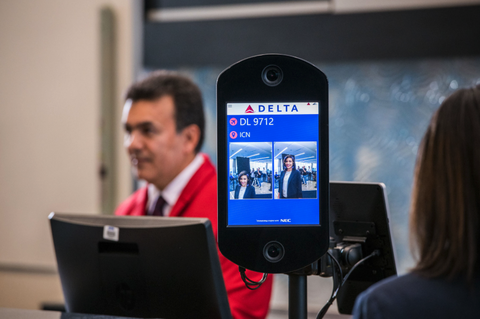 a new biometric system at the hartsfield jackson international airport in atlanta, georgia, photographed in 2018