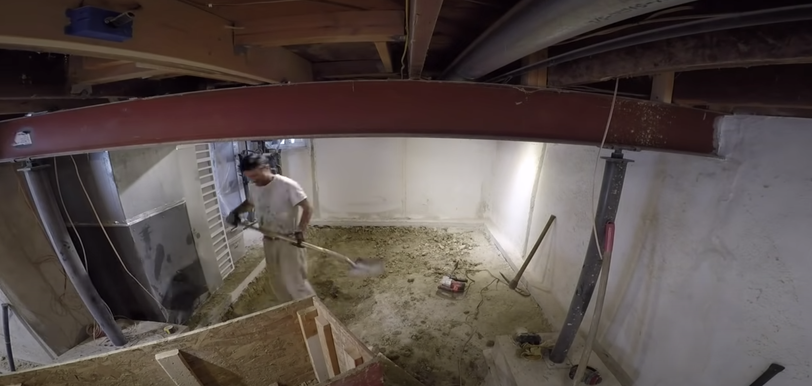 Watch This DIY Warrior Dig Out His Basement by Hand and Finish It