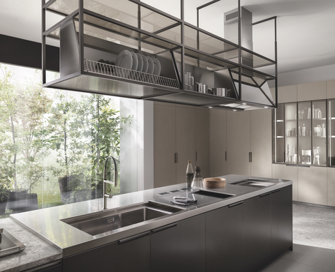 the hood in the mia kitchen by chef cracco for scavolini