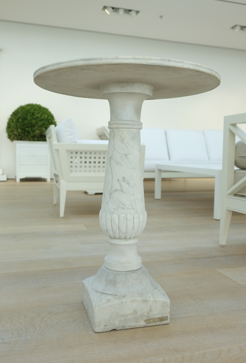 mckinnon and harris 1st dibs carerra marble garden tables