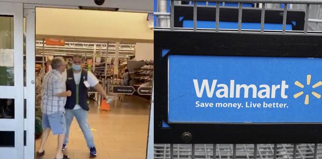 walmart customer fights employee