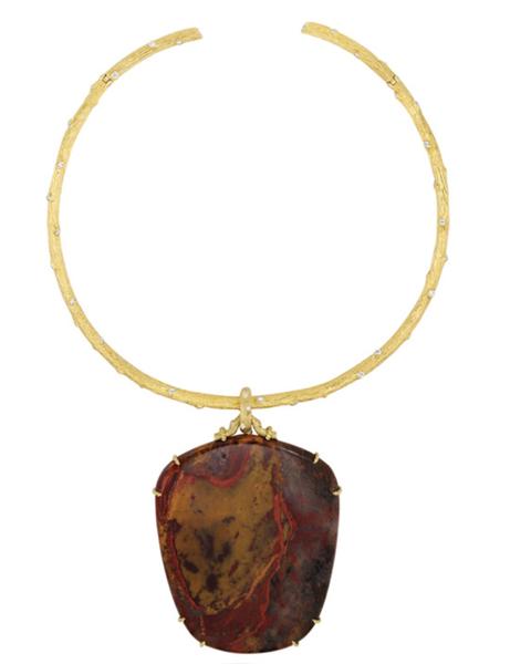 mish twig necklace  detachable pendant