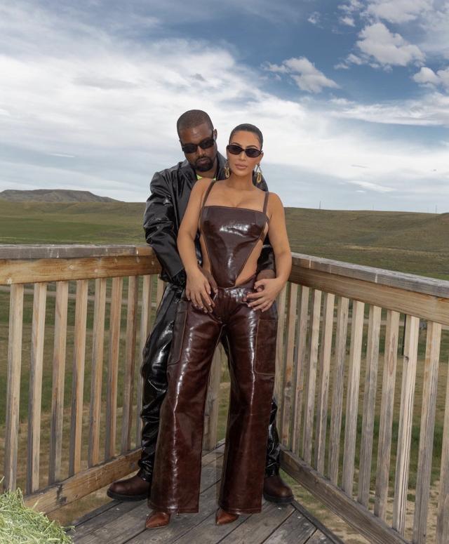 kim kardashian and kanye west in wyoming