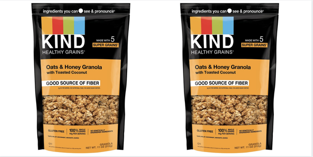 kind oats  honey granola with toasted coconut