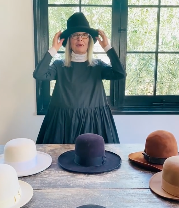 diane keaton hat collection