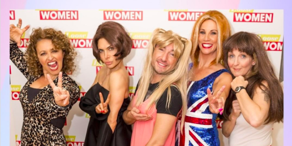 The Loose Women post fancy dress tribute to the Spice Girls on the anniversary of Wannabe's release